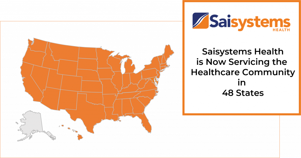 Healthcare in 48 States Map Grey